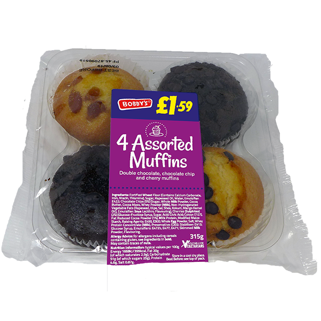 4 Assorted Muffins