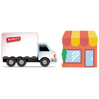 We'll come to you and supply our products direct to your store.